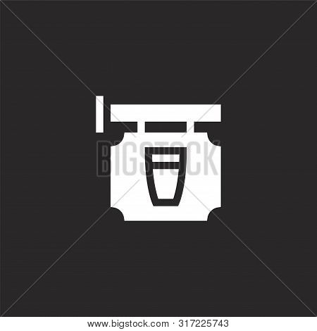 Signpost Icon. Signpost Icon Vector Flat Illustration For Graphic And Web Design Isolated On Black B