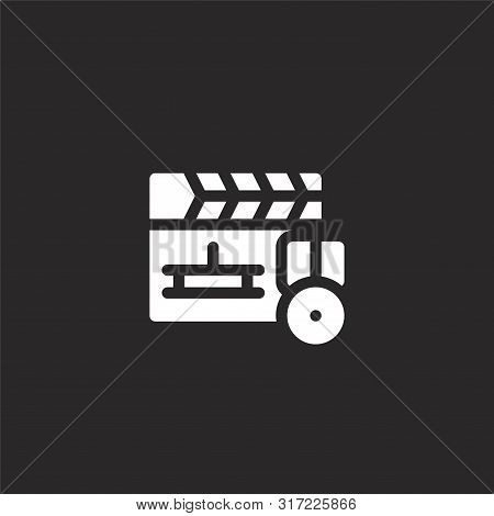 Clapperboard Icon. Clapperboard Icon Vector Flat Illustration For Graphic And Web Design Isolated On
