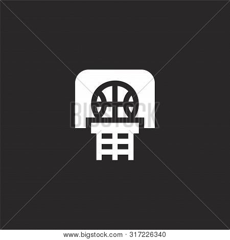 Basketball Icon. Basketball Icon Vector Flat Illustration For Graphic And Web Design Isolated On Bla