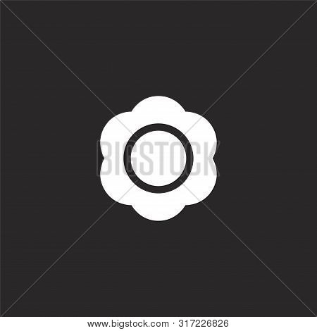 Bloom Icon. Bloom Icon Vector Flat Illustration For Graphic And Web Design Isolated On Black Backgro