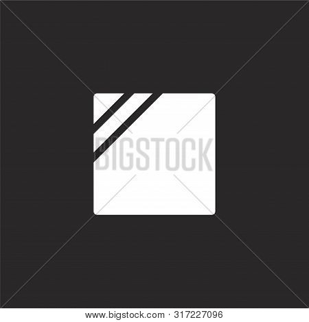 Shade Icon. Shade Icon Vector Flat Illustration For Graphic And Web Design Isolated On Black Backgro