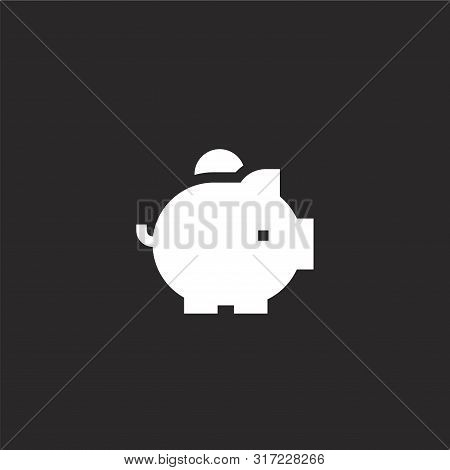 Savings Icon. Savings Icon Vector Flat Illustration For Graphic And Web Design Isolated On Black Bac