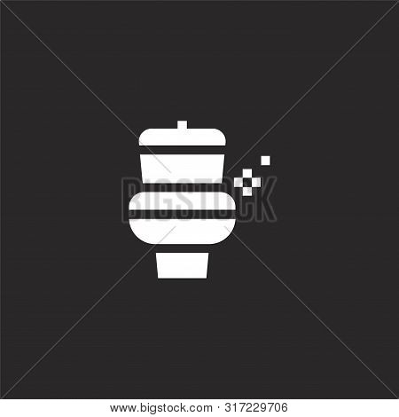 Wc Icon. Wc Icon Vector Flat Illustration For Graphic And Web Design Isolated On Black Background Fr