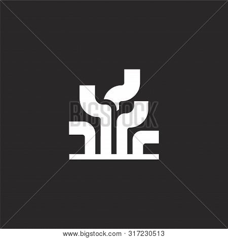 Seaweed Icon. Seaweed Icon Vector Flat Illustration For Graphic And Web Design Isolated On Black Bac