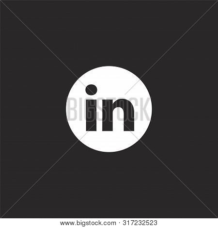 Linkedin Icon Vector Photo Free Trial Bigstock