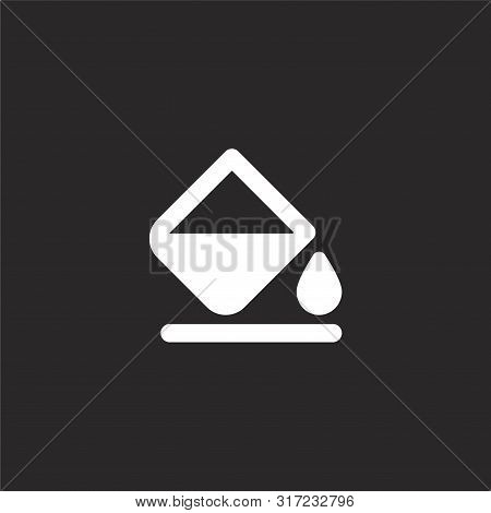 Paint Bucket Icon. Paint Bucket Icon Vector Flat Illustration For Graphic And Web Design Isolated On