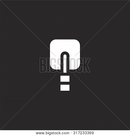 Electrode Icon. Electrode Icon Vector Flat Illustration For Graphic And Web Design Isolated On Black