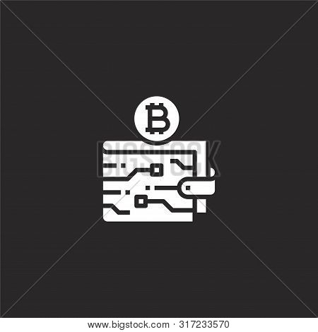 Digital Wallet Icon. Digital Wallet Icon Vector Flat Illustration For Graphic And Web Design Isolate