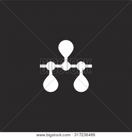 Timeline Icon. Timeline Icon Vector Flat Illustration For Graphic And Web Design Isolated On Black B