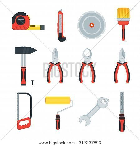 Flat Tools For Building Construction, Home Repair