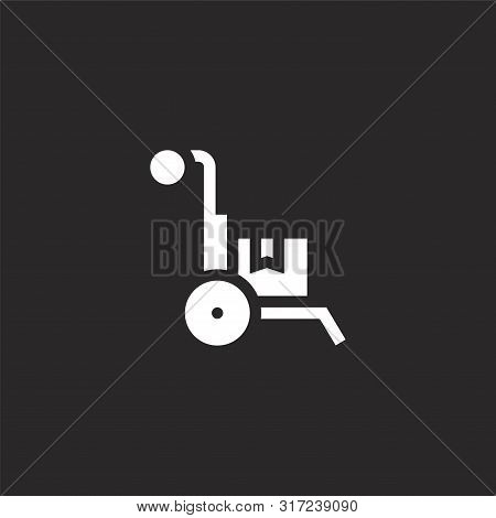 Loading Icon. Loading Icon Vector Flat Illustration For Graphic And Web Design Isolated On Black Bac