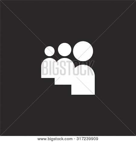 Myspace Icon. Myspace Icon Vector Flat Illustration For Graphic And Web Design Isolated On Black Bac