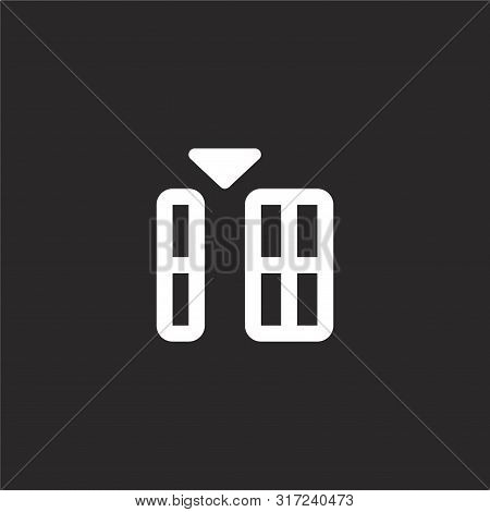 Insert Icon. Insert Icon Vector Flat Illustration For Graphic And Web Design Isolated On Black Backg