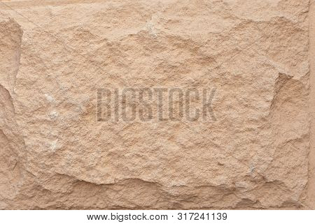 Texture Of Concrete Block. Stone Bricks For Walls And Facades Of Houses.