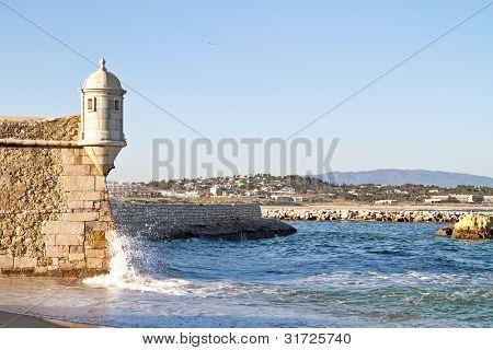Medieval tower from Fortaleza da Ponta da Bandeira at Lagos
