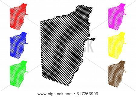 Bari Region (federal Republic Of Somalia, Horn Of Africa) Map Vector Illustration, Scribble Sketch B