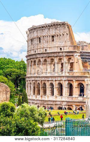 Colosseum, Coliseum Or Flavian Amphitheatre, In Rome, Italy