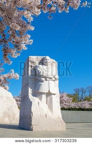 Washington Dc - April 3, 2019: Martin Luther King Jr. Memorial Is Located In West Potomac Park Washi