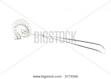 Kitchen Utensil - Stainless Whisk Isolated On White