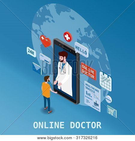 Doctor Online Isometry Healthcare And Medical Consultation Using A Smartphone Technology. Patient Me