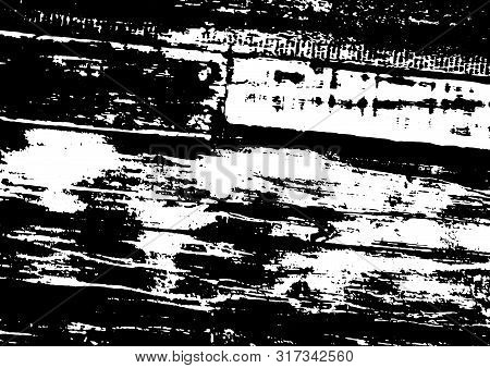 Grunge Black And White Texture Vector. Place Over Any Object Create Black Grunge Effect. Distress Gr