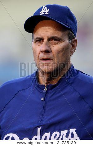 LOS ANGELES - 17 de setembro: Gerente de Dodgers Joe Torre antes do jogo MLB Rockies vs Dodgers em 17 de setembro de 20
