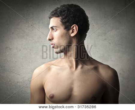 Profile of a handsome african young man