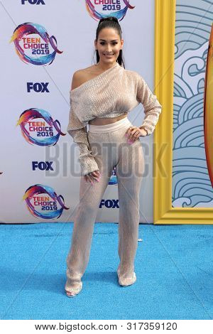 LOS ANGELES - AUG 11:  Nikki Bella at the Teen Choice Awards 2019 at Hermosa Beach on August 11, 2019 in Hermosa Beach, CA
