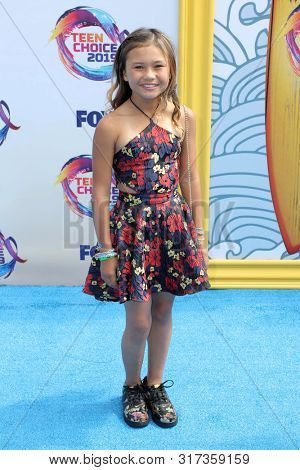 LOS ANGELES - AUG 11:  Sky Brown at the Teen Choice Awards 2019 at Hermosa Beach on August 11, 2019 in Hermosa Beach, CA