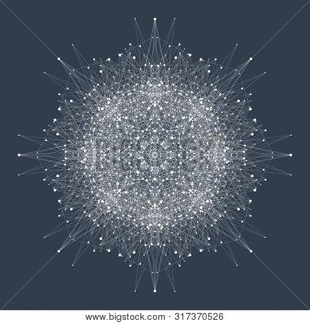 Quantum Computing Technology Concept. Deep Learning Artificial Intelligence. Big Data Algorithms Vis