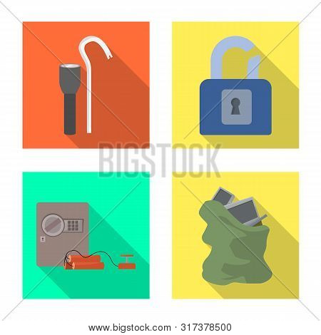 Vector Design Of Crime And Steal Symbol. Collection Of Crime And Villain Vector Icon For Stock.