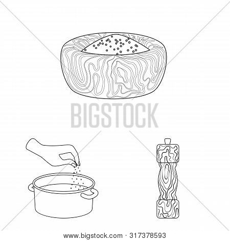 Vector Illustration Of Sodium And Mineral Icon. Collection Of Sodium And Kitchen Stock Symbol For We