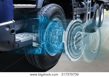 Repairing a truck with augmented reality application