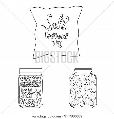 Vector Design Of Sodium And Mineral Sign. Set Of Sodium And Kitchen Vector Icon For Stock.