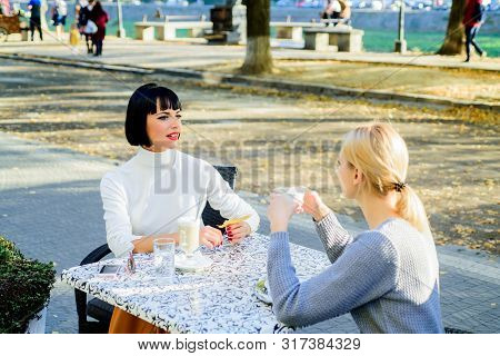 Friendship Meeting. Sharing Thoughts. Female Friendship. True Friendship Friendly Close Relations. T
