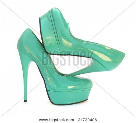 Sky blue blue high heels pump shoes