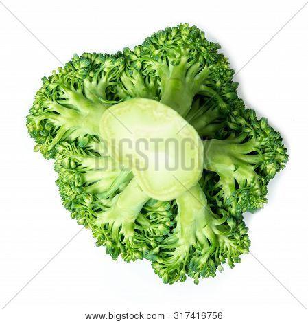 Raw Broccoli Isolated On White Background. Brocoli