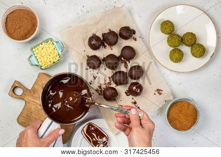Process Cooking Marzipan Candy