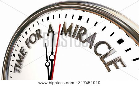Time for a Miracle Clock Problem Soled 3d Illustration