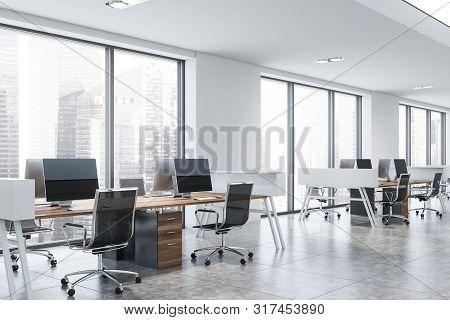 Modern White Loft Open Space Office