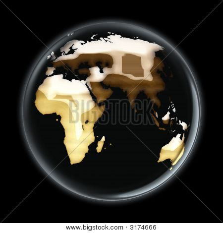 Map World Brownish