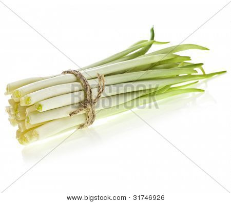 ramson bunch vegetable isolated on white background