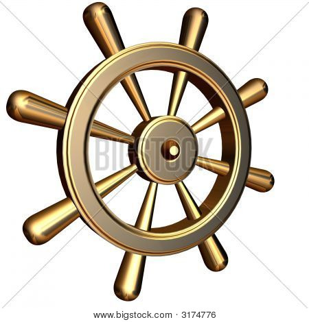 Ship'S Steering Wheel