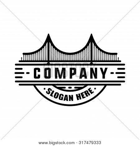 Modern Bridge Logo Design. Vector And Illustration.