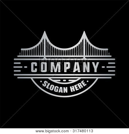 Modern Bridge Logo. Bridge Design Template. Vector And Illustration.