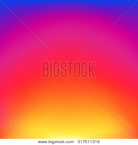 poster of Abstract blurred gradient background with glow blue, red, purple and yellow color. Trendy vibrant art background with blur color. vector illustration