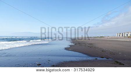 Beachgoers Near Westport Condos, Grays Harbor, Puget Sound, Washington