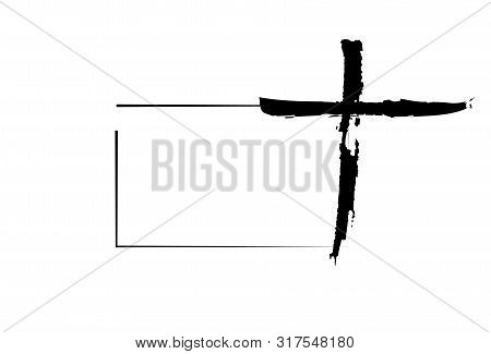 Hand Drawn Christian Cross Signs. Religion Symbol, Catholicism Icon. Signs And Symbols Icon Can Be U