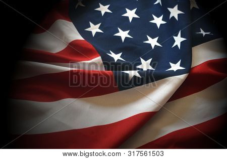 Flag USA as a patriotic background