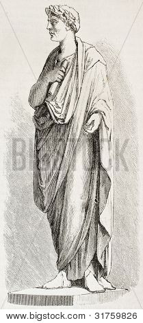 Gaius Julius Caesar statue. Created by Chazal, published on L'Illustration, Journal Universel, Paris, 1863